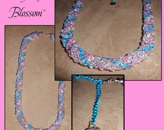 Spring Blossom Russian Spiral Necklace