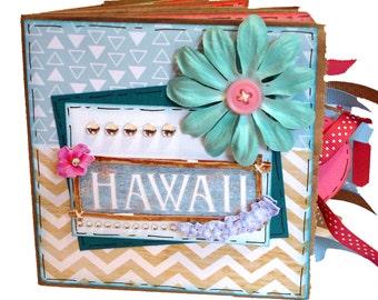 Hawaii Scrapbook - Hawaiian Vacation Scrapbook - Travel Paper Bag Album