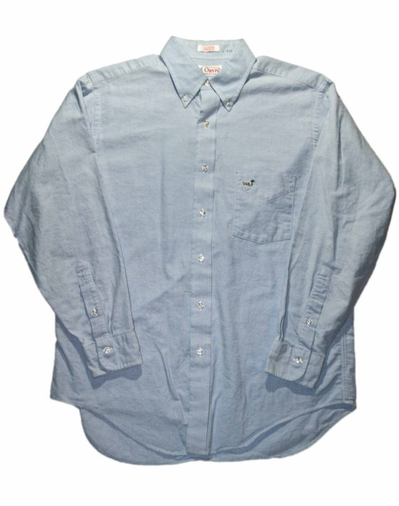 vintage orvis oxford button down shirt made in usa mens size