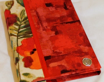 Kindle Fire HD Case, Kindle Fire HDX Cover,  Nexus 7, Nook Tablet, HD Case, Hardcover Tablet Case, Personalized, Broad Strokes & Poppies