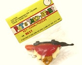 Reserved for Ronny..Please do not Purchase..1970s Dragon Take Apart Puzzle Keychain in Original Wrapper with Instructions... Nadel & Sons