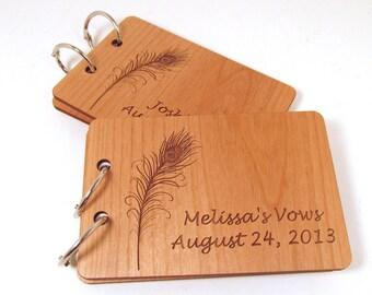 Wooden Vow Books - Wedding Books I Do - Set of 2