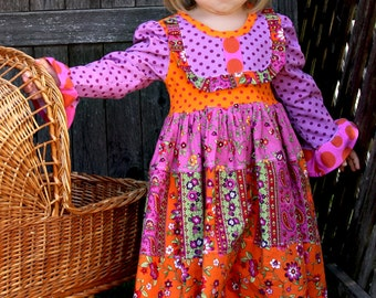 Autumn Splendor knit twirl dress