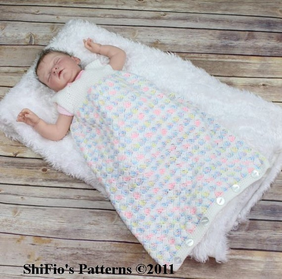 Crochet Pattern For Baby Sneakers : Baby Crochet Pattern Cocoon 2 Sleeping Bag Crochet Pattern 3