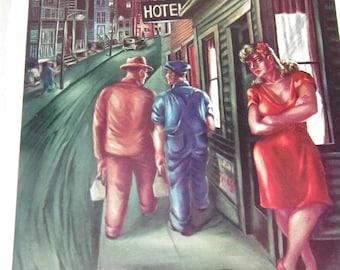 Vintage Factory Town Pennsylvania Lois Head Print 8945