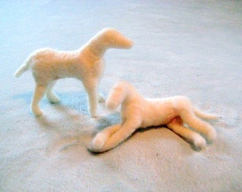 Needle Felted Dog / Base Sculptures  for Needle Felted Animals Needlecraft / Just add fur by Gourmet Felted