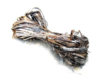 Natural Plant Fiber Hibiscus Bark Fiber Rustic Basketry Crafts Cordage Weave Basket Supply Raw Natural Dyeable Organically Grown Unusual
