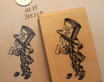 Alice in Wonderland's Mad Hatter rubber stamp  P13