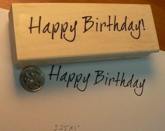 Happy Birthday rubber stamp WM P36