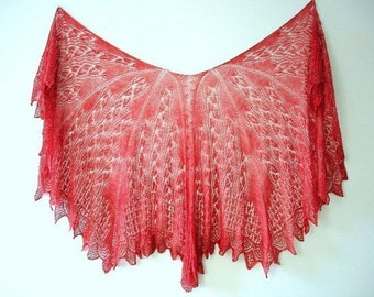 No Two Snowflakes presents Something Wicked This Way Comes LACE SHAWL Pattern Pdf by Karen Walker