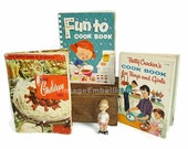 Vintage Cook Books For Children  3 Children's Cook Books Vintage