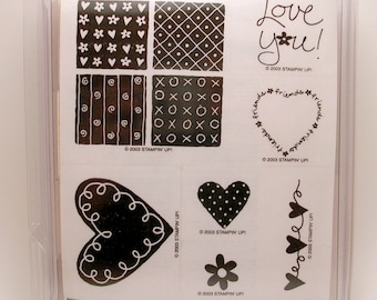 Stampin' Up-  Loving Hearts Brand New Set (Retired)
