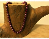 Premium Handknotted Red Pearl Necklace- Strawberry Fields