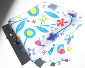 FREE OFFER Reusable ORGANIC Cloth Napkins - Set of 4- Exclusive Organic Prints- In the Garden