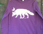 Arctic Fox on a Child's Long Sleeve Tee