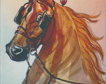Mouse Pad Mat of American Saddlebred Fine Harness Horse from Original Art