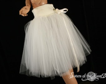 All Ivory Victorian Romance Tutu skirt extra poofy knee length Adult bridal wedding dance -- You Choose Size -- Sisters of the Moon