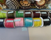 Choose your 1mm Waxed Cotton Cord 5 yards S 907