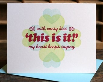 This Is It Valentine Love Letterpress Card