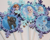 FROZEN cupcake toppers- set of 12 - KriskropMemories