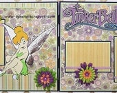 Two Page Premade Scrapbook Layout Tinkerbell Scrapbooking
