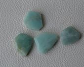 5 Large Amazonite Stone Beads