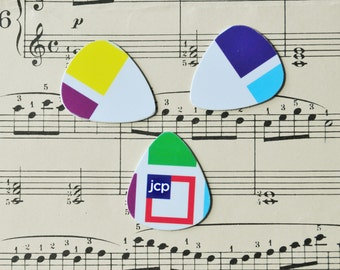 Guitar Picks - recycle Upcycled pick plastic gift cards for your Ukulele Guitar Mandolin - JCP Penney