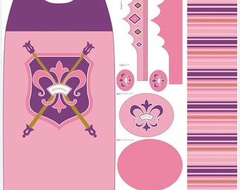 Purple Princess Fabric Panel