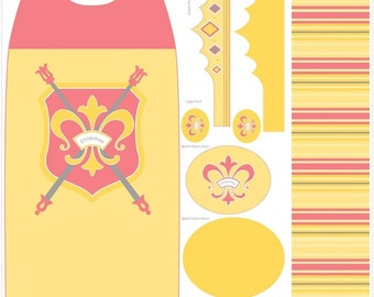 Princess Cape Panel - Yellow