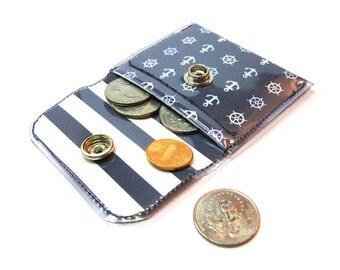 Nautical Print Coin Purse
