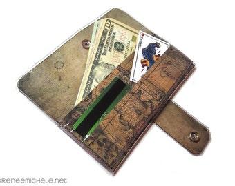Ancient World Maps Vinyl Large Wallet