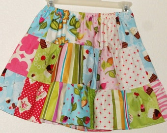 Girls Twirl Skirt Girls Birthday Skirt Girls Cupcake Skirt Girls size 5 Ready to Ship