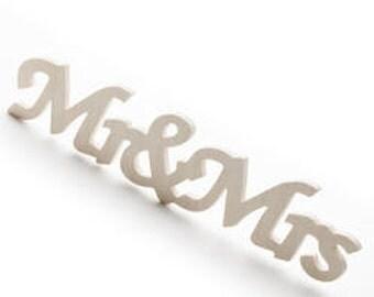 Mr & Mrs Wood Cutout Sign