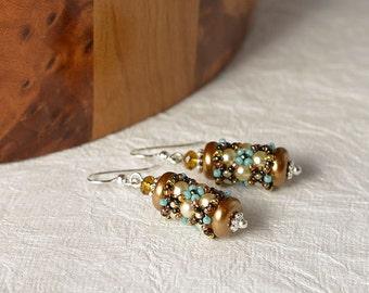 SALE Beadwoven earrings