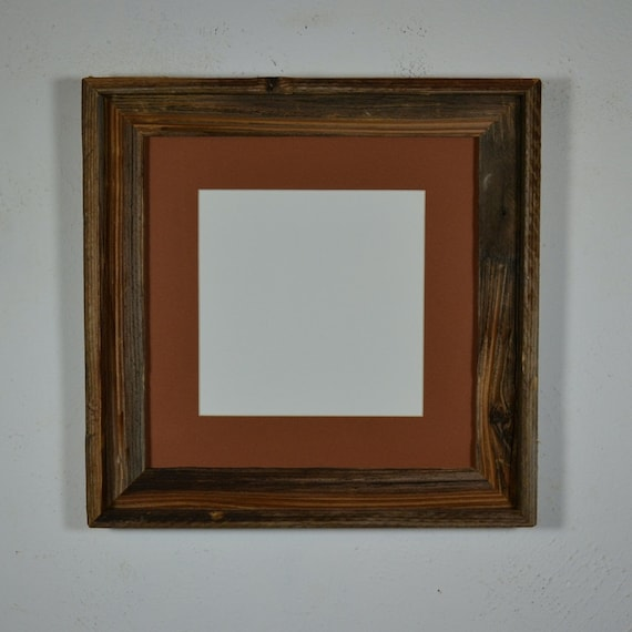 Natural Photo Frame 12x12 Bright Patina With 8x8 By Barnwood4u