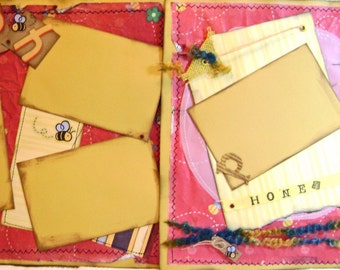 Scrapbook Pages Premade Disney Winnie POOH Layout  - Kitsnbitscraps