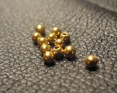 Solid 18K gold 2mm round beads  -12 beads-