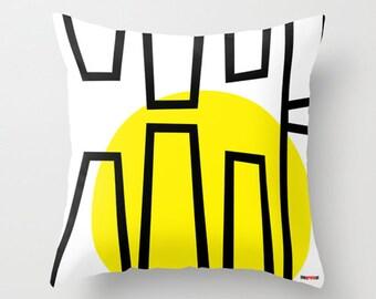 Pop Art Decorative throw pillow cover - Geometric pillow cover - Modern pillow cover