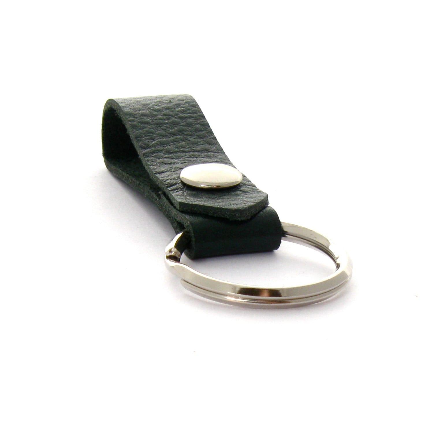 Forest Green Men S Leather Key Fob Leather Belt Loop Key