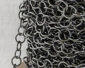 Gunmetal Plated Steel Purse or Belt Chain Ch010 -3 Feet