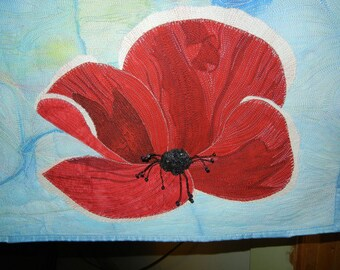 Remembrance Day Fiber Art Wall Hanging