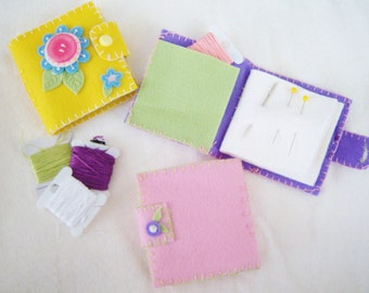 Instant Download Felt Floral Needle Book Craft Pattern