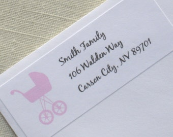 Baby Shower Address Labels - Choose Color
