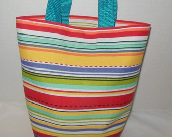 Toddler's Striped Purse/Tote Bag