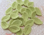 Crochet Leaves, 24 Wasabi