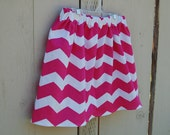 FREE SHIPPING - Chevron School Days Skirt