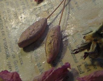 Artisan Headpins Primitive Rustic Tribal Boho Pinks