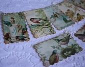 Handmade Gift Tags Birds of Summer - Vintage Inspired