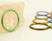 1 Hoop - Super Simple - Colorful Niobium Hypo Allergenic Earring Hoops - 16 gauge 12mm ID - YOU PICK Color