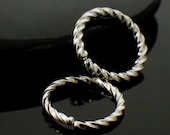 One Pair Twisted Super Simple - Micro Size - Argentium Earring Hoops - YOU PICK Size